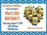 Minions Party Invites Minion Birthday Party Invitation Printable 4×6 or 5×7