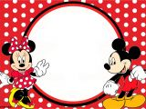 Minnie and Mickey Mouse Party Invitations Free Printable 1st Mickey and Minnie Invitation – Free