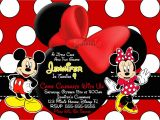 Minnie and Mickey Mouse Party Invitations Mickey and Minnie Mouse Birthday Party Invitations
