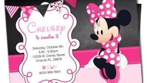 Minnie Birthday Invitation Template Awesome Minnie Mouse Invitation Template 27 Free Psd