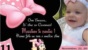 Minnie Mouse 1 Year Old Birthday Party Invitations 20 Printed Baby Minnie Mouse First Birthday Party