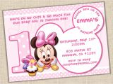 Minnie Mouse 1 Year Old Birthday Party Invitations Baby Minnie Mouse 1st Birthday Invitations Best Party Ideas