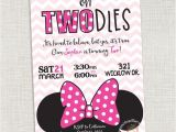 Minnie Mouse 1 Year Old Birthday Party Invitations Minnie Mouse Birthday Invitation Two Year Old Can Be