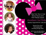 Minnie Mouse 1 Year Old Birthday Party Invitations Minnie Mouse Invitation Pure Design Graphics