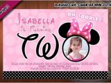 Minnie Mouse 1 Year Old Birthday Party Invitations Minnie Mouse Invitations Two Years Old Birthday Photo