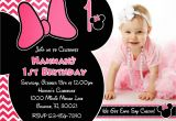 Minnie Mouse 1 Year Old Birthday Party Invitations One Year Old Birthday Invitation