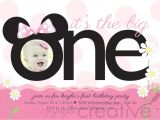 Minnie Mouse 1st Birthday Invitations Templates First Birthday Invitation Minnie Mickey Mouse 1st