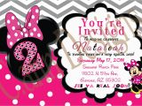 Minnie Mouse 2nd Birthday Invitation Wording Minnie Mouse 2nd Birthday Invitations