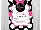 Minnie Mouse 2nd Birthday Invitation Wording Minnie Mouse 2nd Birthday Invitations Printable Girls Party
