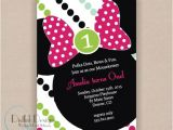 Minnie Mouse 2nd Birthday Invitation Wording Minnie Mouse Birthday Party Invitation Printable 5×7