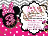 Minnie Mouse 3rd Birthday Invitation Wording Items Similar to 3rd Birthday Minnie Mouse Invitations On Etsy