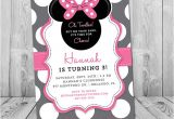 Minnie Mouse 3rd Birthday Invitation Wording Minnie Mouse 3rd Birthday Invitation Minnie Mouse Birthday