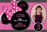 Minnie Mouse 3rd Birthday Invitation Wording Minnie Mouse 3rd Birthday Invitation Wording Party
