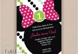 Minnie Mouse 3rd Birthday Invitation Wording Minnie Mouse Birthday Party Invitation Printable 5×7
