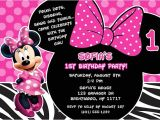 Minnie Mouse 3rd Birthday Invitation Wording Minnie Mouse Birthday Party Invitations Disney Kids