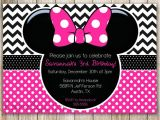 Minnie Mouse 3rd Birthday Invitation Wording Minnie Mouse Chevron Birthday 1st Birthday by Lovelydivine9