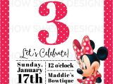 Minnie Mouse 3rd Birthday Invitation Wording Minnie Mouse Party Baby A 39 S 3rd Birthday How Sweet