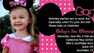 Minnie Mouse 3rd Birthday Invitation Wording the Bufe Family Minnie Mouse 3rd Birthday Party