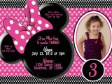 Minnie Mouse 3rd Birthday Invitations Katey Lee is Turning 3 Pic with 3 at Bottom