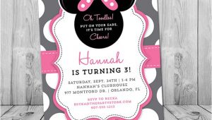 Minnie Mouse 3rd Birthday Invitations Minnie Mouse 3rd Birthday Invitation Minnie Mouse Birthday