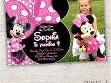 Minnie Mouse 3rd Birthday Invitations Minnie Mouse Birthday Invitation Pink Minnie Mouse Polka