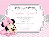 Minnie Mouse Baby Shower Invitations Free Pink Minnie Mouse Girl Shower Invitation