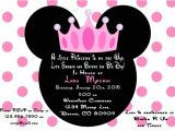 Minnie Mouse Baby Shower Invitations Party City Minnie Mouse Baby Invitations Cobypic
