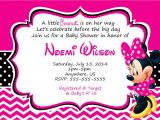 Minnie Mouse Baby Shower Invites Minnie Mouse Baby Shower Invitations Free – Invitations