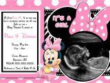 Minnie Mouse Baby Shower Invites Pink Minnie Mouse Baby Shower Invitations