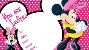 Minnie Mouse Birthday Invitation Template Free Download 33 Minnie Mouse Birthday Invitation Templates Psd Word