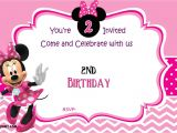 Minnie Mouse Birthday Invitation Templates Free Free Minnie Mouse 2nd Birthday Invitation Template