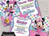 Minnie Mouse Bowtique Birthday Invitations Minnie Mouse Birthday Invite Minnie Minnie S Bowtique