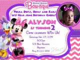 Minnie Mouse Bowtique Birthday Invitations Minnie Mouse Bowtique Birthday Party Invitations