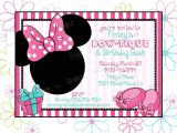 Minnie Mouse Bowtique Birthday Invitations Minnie Mouse Inspired Birthday Invitation and Thank You