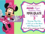 Minnie Mouse Bowtique Birthday Invitations Minnie S Bow Tique Birthday Party Invitation In Size 4×6