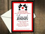 Minnie Mouse Bridal Shower Invitations Mickey and Minnie Mouse Wedding Invitations Mickey Mouse