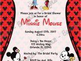 Minnie Mouse Bridal Shower Invitations Minnie and Mickey Invitation – orderecigsjuicefo
