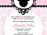 Minnie Mouse Bridal Shower Invitations Minnie Mouse Pink Black Damask Baby Shower Birthday