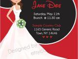 Minnie Mouse Bridal Shower Invitations Minnie Mouse theme Bridal Shower Invitation by Customsbyz
