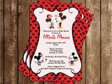 Minnie Mouse Bridal Shower Invitations Novel Concept Designs Mickey & Minnie Mouse Bridal