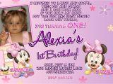 Minnie Mouse First Birthday Invitations Minnie Mouse 1st Birthday Invitations Printable Digital File