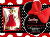 Minnie Mouse First Birthday Invitations Red Free Minnie Mouse Birthday Invitations Templates