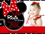 Minnie Mouse First Birthday Invitations Red Minnie Mouse 1st Birthday Invitations Ideas – Bagvania