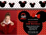 Minnie Mouse First Birthday Invitations Red Red Minnie Mouse Birthday Invitations Ideas – Bagvania