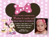 Minnie Mouse First Birthday Party Invitations Minnie Mouse 1st Birthday Invitations Birthday Party