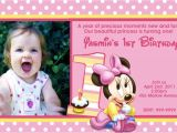 Minnie Mouse First Birthday Party Invitations Minnie Mouse 1st Birthday Invitations Ideas Bagvania