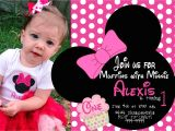 Minnie Mouse First Birthday Party Invitations Minnie Mouse First Birthday Invitations Drevio