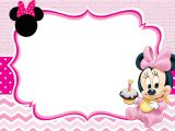 Minnie Mouse Party Invitation Template Baby Minnie Mouse Invitation Template Free Printable