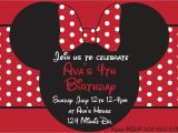 Minnie Mouse Party Invitations Diy Diy Minnie Mouse Red Printable Birthday Party by
