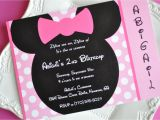 Minnie Mouse Party Invitations Diy Homemade Minnie Mouse Invitations Template Resume Builder